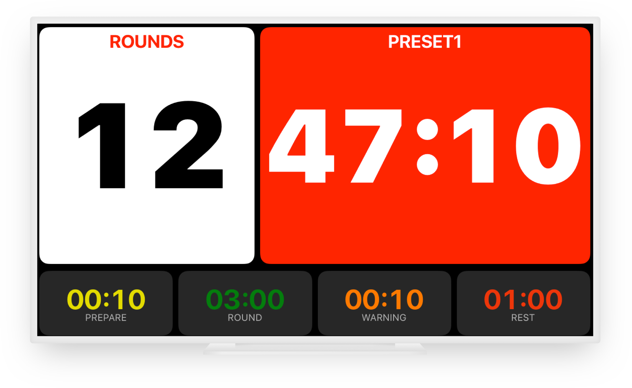 Use Boxing Timer Pro on an external display