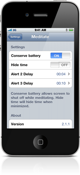 Meditate, Meditation Timer, Advanced Settings