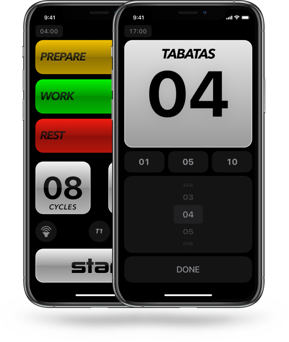 Tabata Pro, multiple tabatas, tabata this